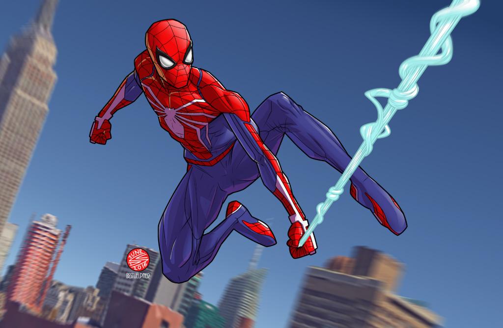 "Spider Man от художника Drawerofdrawings. <a href=""https://www.reddit.com/r/Spiderman/comments/6jukxs/spiderman_ps4_fanart_by_drawerofdrawings/"">https://www.reddit.com/r/Spiderman/comments/6jukxs"