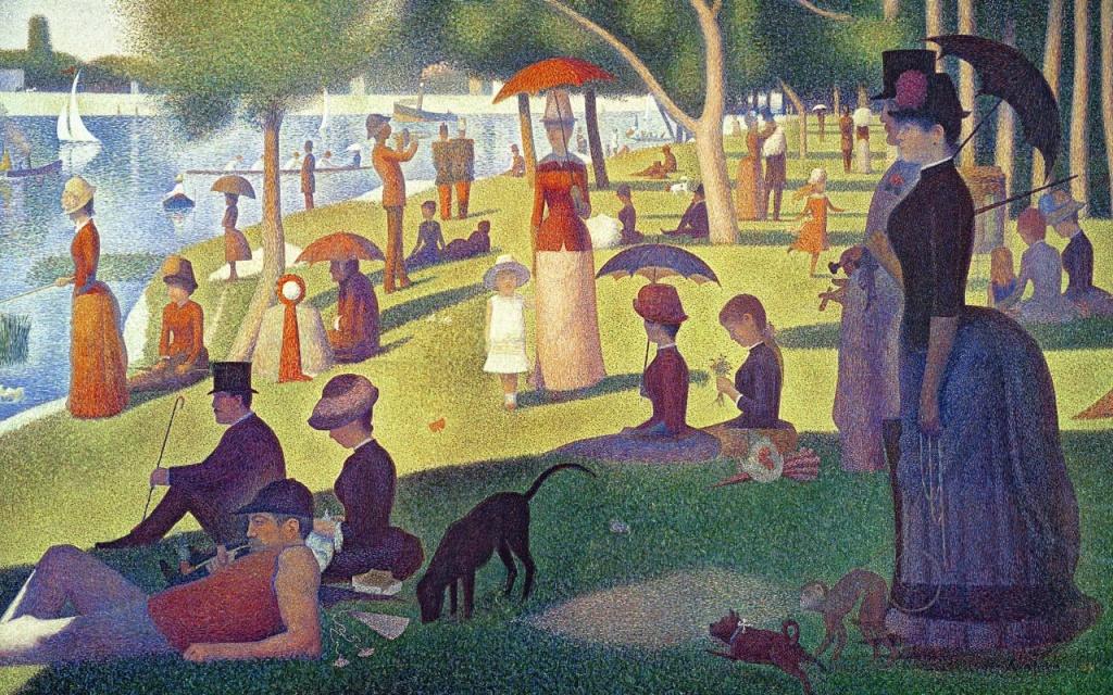 Жорж Сёра / Georges Seurat. Воскресный день на острове Гранд-Жатт. Afternoon on the Island of La Grande Jatte.